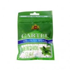 Филтри за цигари CARTEL MENTHOL SLIM 6 мм/15 мм 120