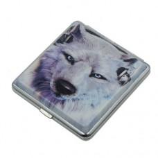 Метална табакера за цигари с вълци 84 мм